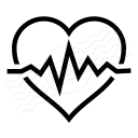 Heartbeat Icon 128x128