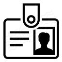 Id Badge Icon 128x128