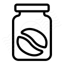 Jar Coffee Bean Icon 128x128