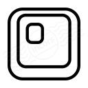 Keyboard Key 0 Icon 128x128