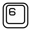 Keyboard Key 6 Icon 128x128