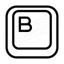Keyboard Key B Icon 128x128