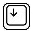 Keyboard Key Down Icon 128x128