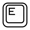 Keyboard Key E Icon 128x128