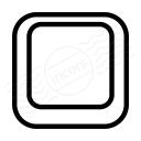 Keyboard Key Empty Icon 128x128
