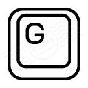 Keyboard Key G Icon 128x128
