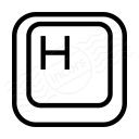 Keyboard Key H Icon 128x128