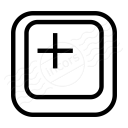 Keyboard Key Plus Icon 128x128