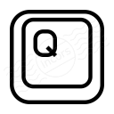 Keyboard Key Q Icon 128x128