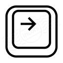 Keyboard Key Right Icon 128x128