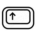 Keyboard Key Shift Icon 128x128