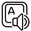 Keyboard Key Speaker Icon 128x128