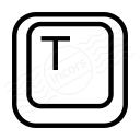 Keyboard Key T Icon 128x128