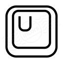 Keyboard Key U Icon 128x128