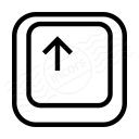 Keyboard Key Up Icon 128x128