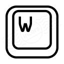 Keyboard Key W Icon 128x128