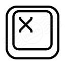 Keyboard Key X Icon 128x128