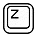 Keyboard Key Z Icon 128x128