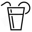 Lemonade Glass Icon 128x128