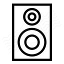 Loudspeaker Box Icon 128x128