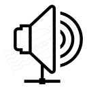 Loudspeaker Network Icon 128x128