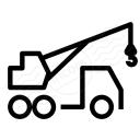 Mobile Crane Icon 128x128