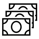 Money Bills Icon 128x128