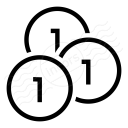 Money Coins Icon 128x128