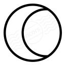 Moon Half Icon 128x128
