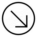 Nav Down Right Icon 128x128