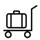 Platform Truck Suitcase Icon 128x128