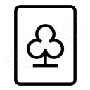 Playing Card Clubs Icon 128x128