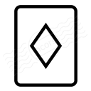 Playing Card Diamonds Icon 128x128