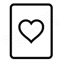 Playing Card Hearts Icon 128x128
