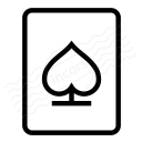 Playing Card Spades Icon 128x128