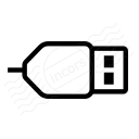 Plug Usb Icon 128x128