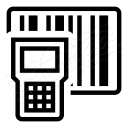 Portable Barcode Scanner Icon 128x128