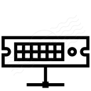 Rack Server Network Icon 128x128