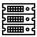 Rack Servers Icon 128x128