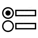 Radio Button Group Icon 128x128