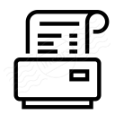 Receipt Printer Icon 128x128