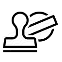 Rubber Stamp Icon 128x128