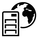 Server Earth Icon 128x128
