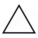 Shape Triangle Icon 128x128