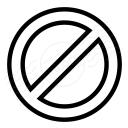 Sign Forbidden Icon 128x128
