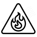 Sign Warning Flammable Icon 128x128