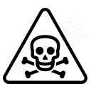 Sign Warning Toxic Icon 128x128