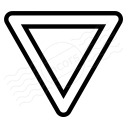 Sign Yield Icon 128x128