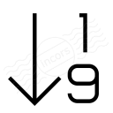 Sort 19 Ascending Icon 128x128