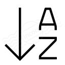 Sort Az Descending Icon 128x128